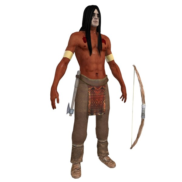 Native American V2 3D Models