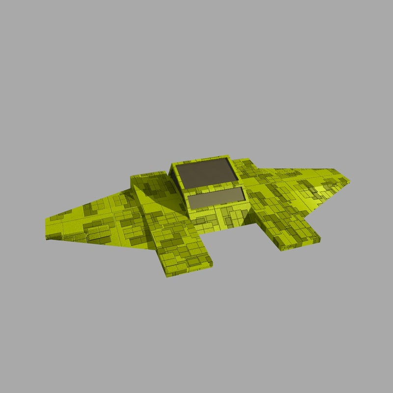 Low Poly Space Ship 1