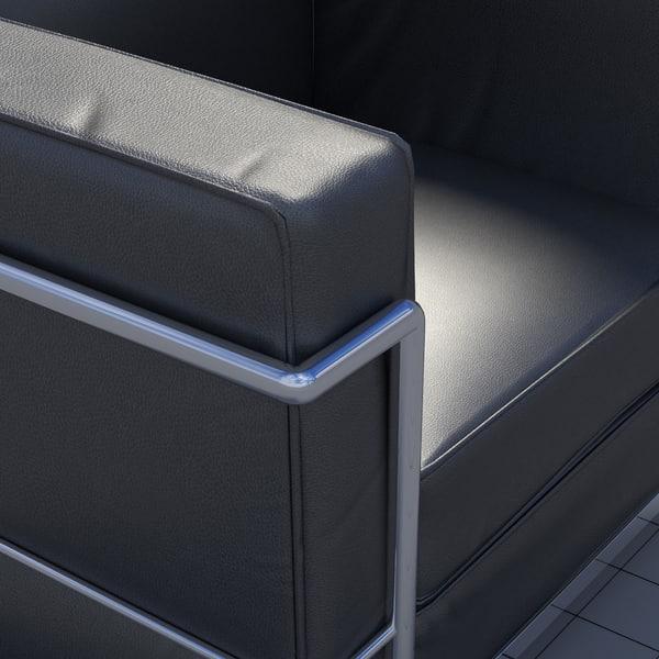 Le Corbusier Chair LC2 3D Models