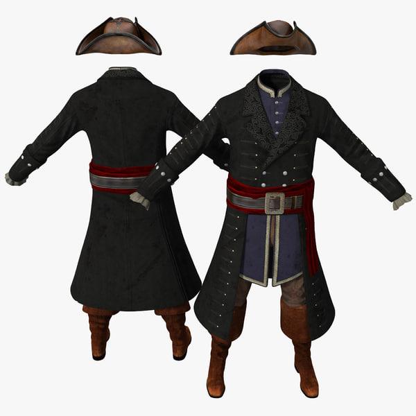 Pirate Costume 2 3D Models