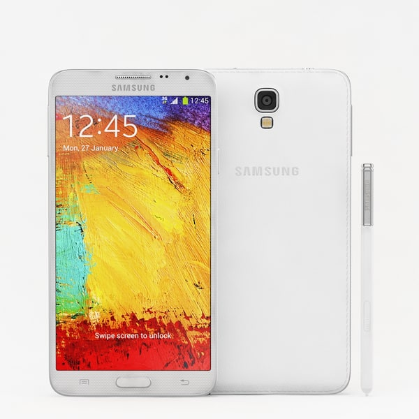 Samsung Galaxy Note 3 Neo  White 3D Models
