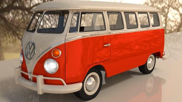Volkswagen Kombi 62 3D Models