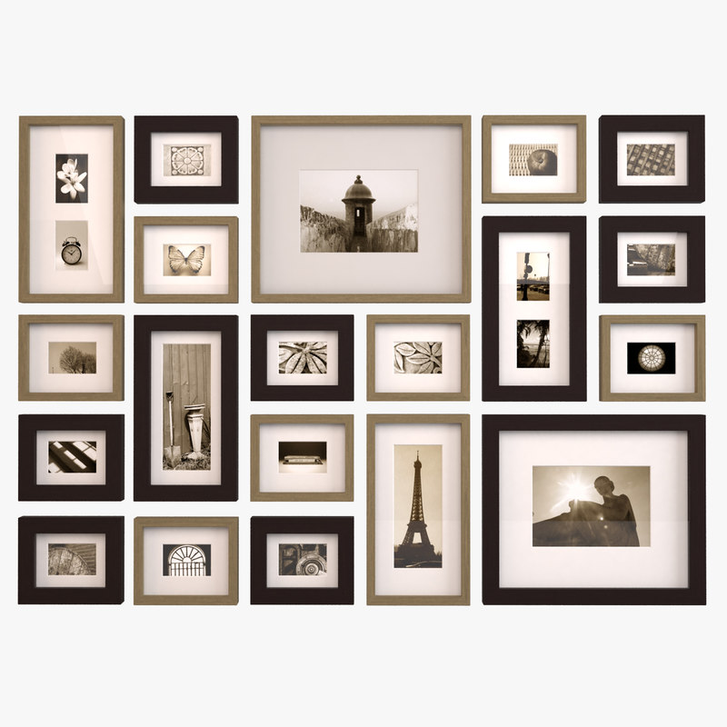 3d Model Contemporary Picture Wall Frames