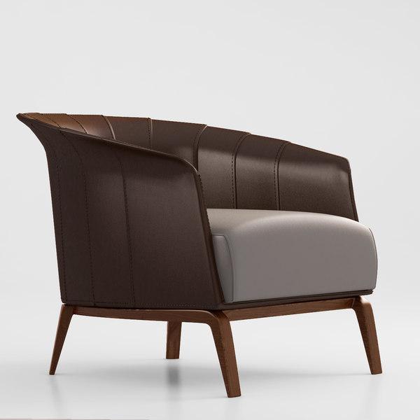 Giorgetti Aura armchair 3D Models