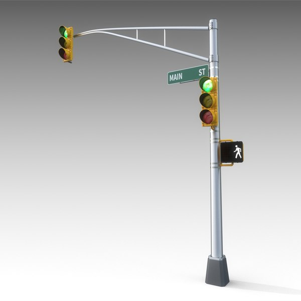 Traffic Light 3D Models