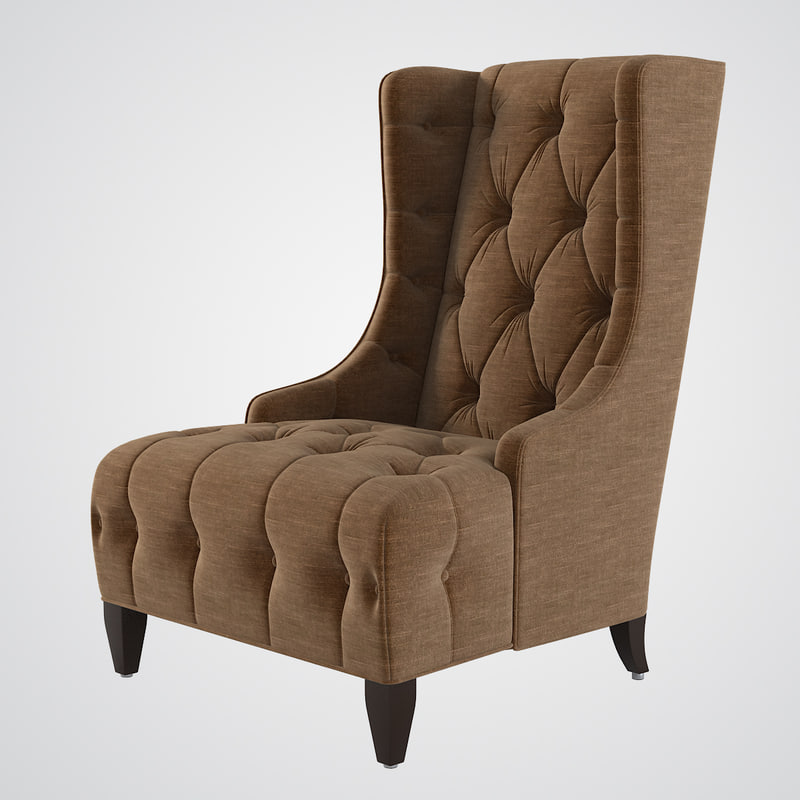 b Celine Tufted Wing Chair classic classical0001.jpg