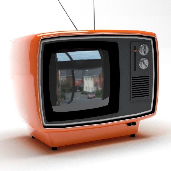 free c4d model retro tv -> Pose Télévision
