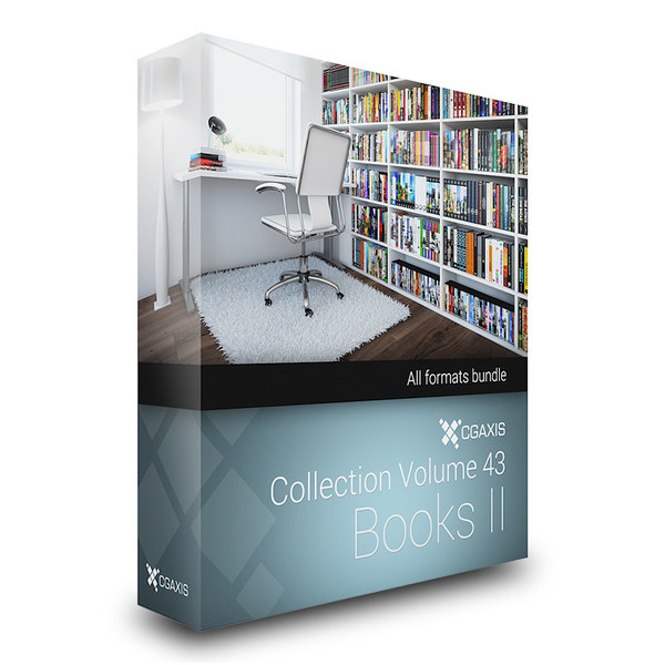 CGAxis Models Volume 43 Books II + Render Scene 3D Models