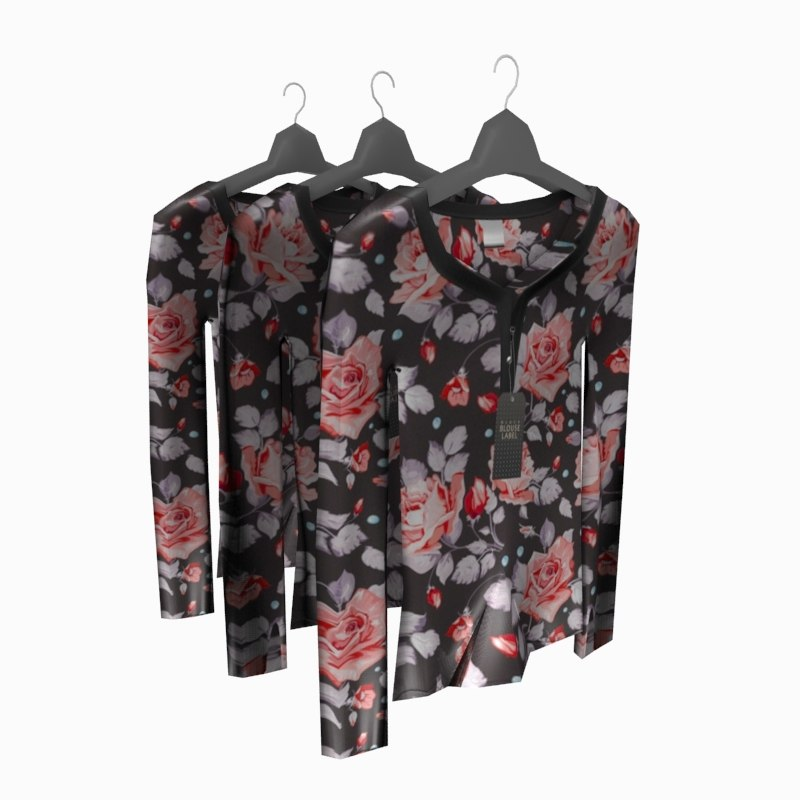 Blouse on Hanger Low Poly