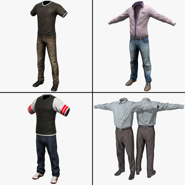 Mens Clothing Collection 3D Models