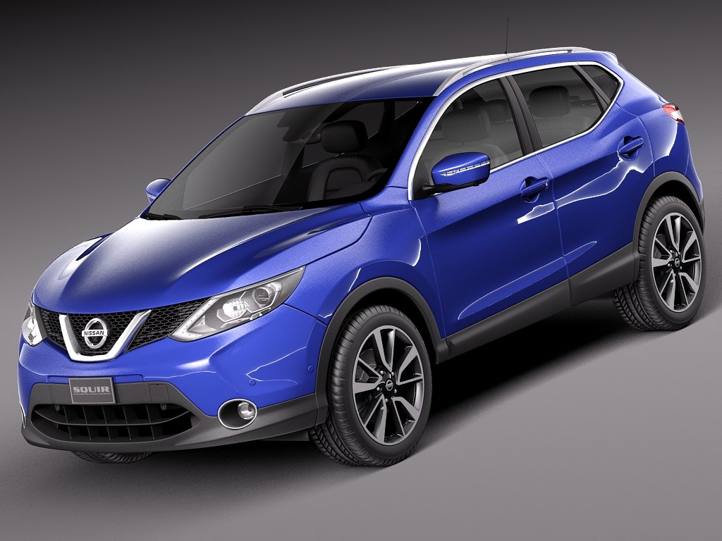 2014 nissan qashqai 3d model. Black Bedroom Furniture Sets. Home Design Ideas
