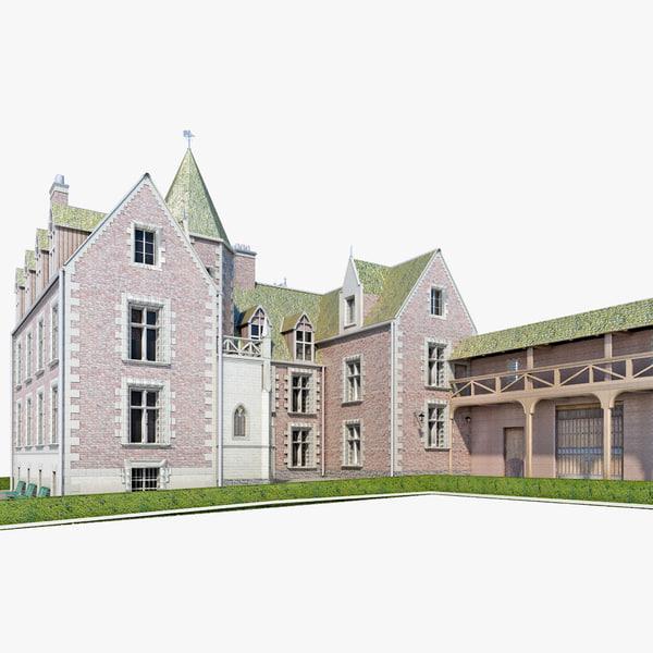 Castle Clos Luce France 3D Models
