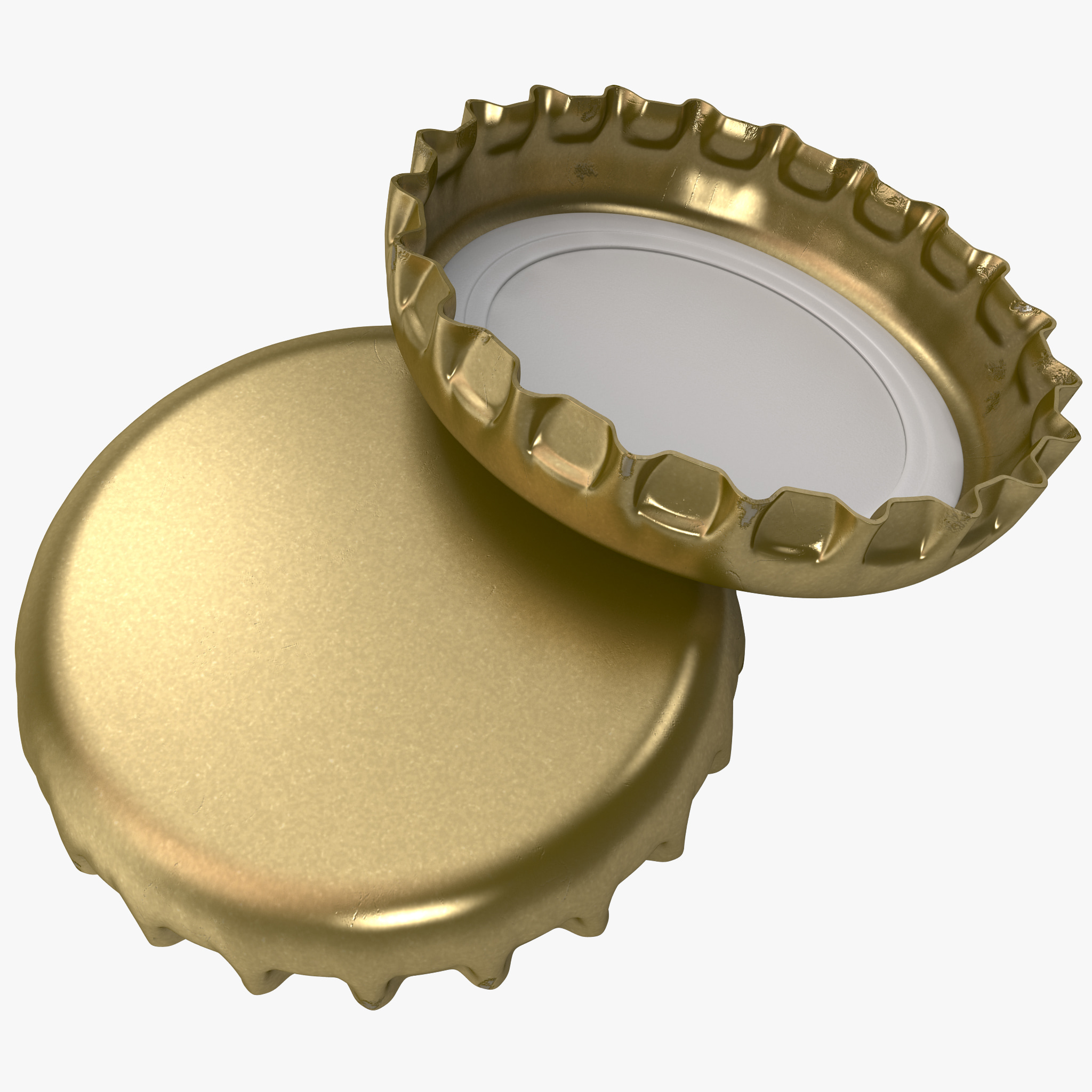 Crown cork bottle cap 3d model for How to use bottle caps
