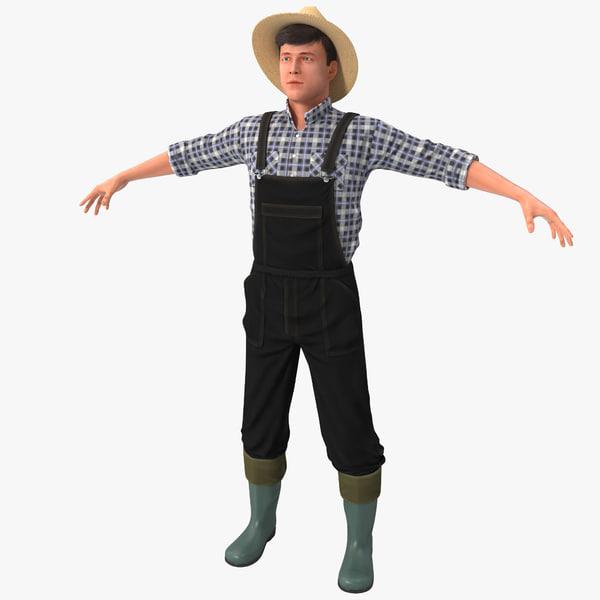 Farmer Version 2 Rigged 3D Models