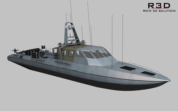 Mark V Special Operations Craft 3D Models