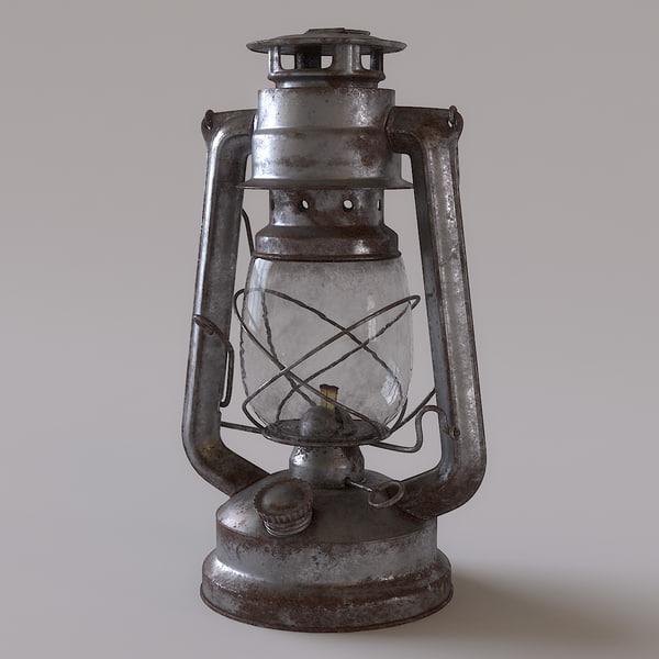 Rusty Storm Lantern 3D Models