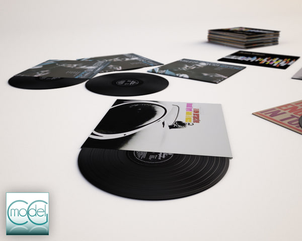 vinyl records 3D Models