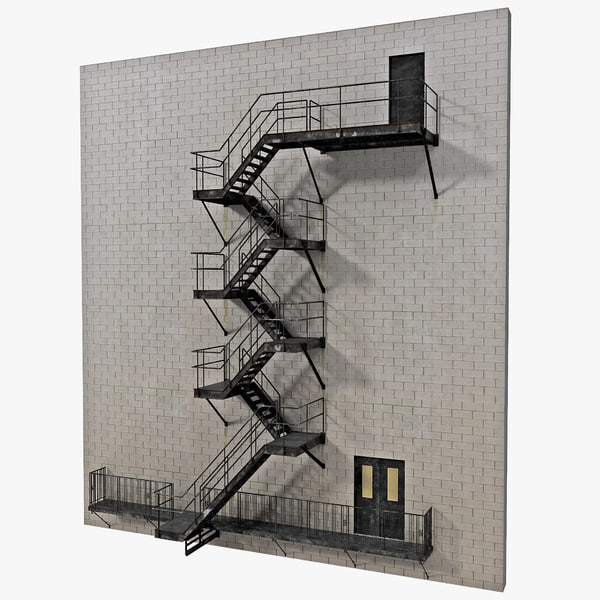 Fire Escape Stairs 3D Models
