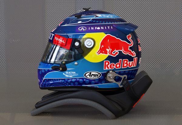 Sebastian Vettel 2013 style motorsport helmet 3D Models