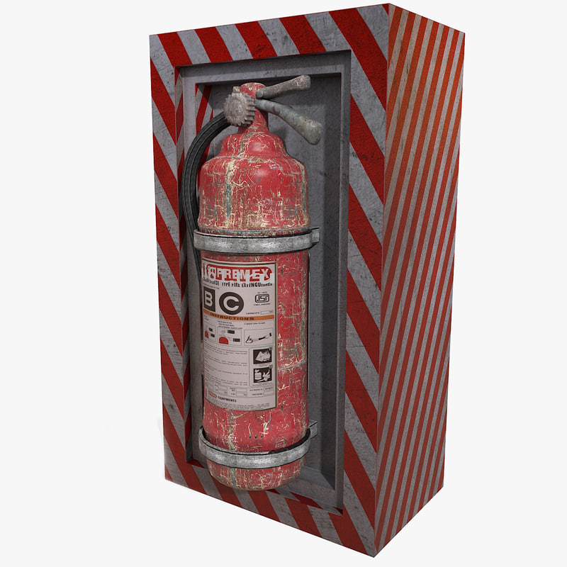 Fire extinguishers on wall suspension hanging pendant