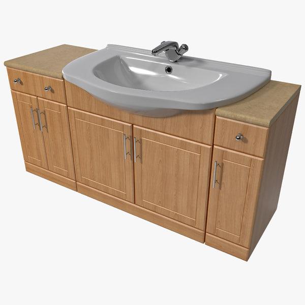 Bathroom Sink Cabinet 3D Models