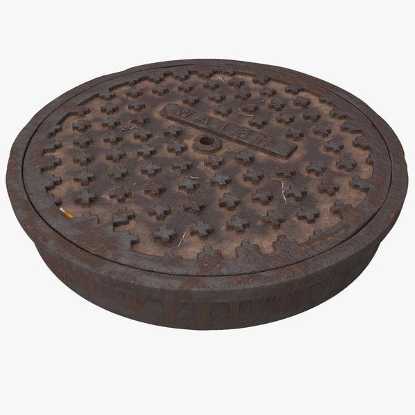 Manhole Cover Texture Maps