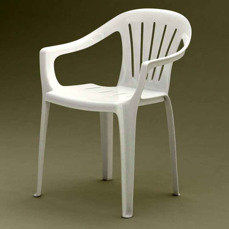 3d model realistic monobloc chair