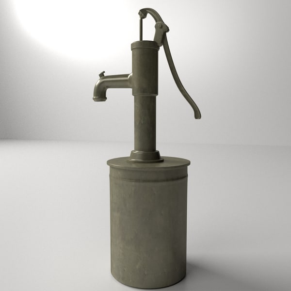 Vintage Water Pump 3D Models
