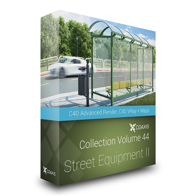 CGAxis Models Volume 44 Street Equipment II C4D