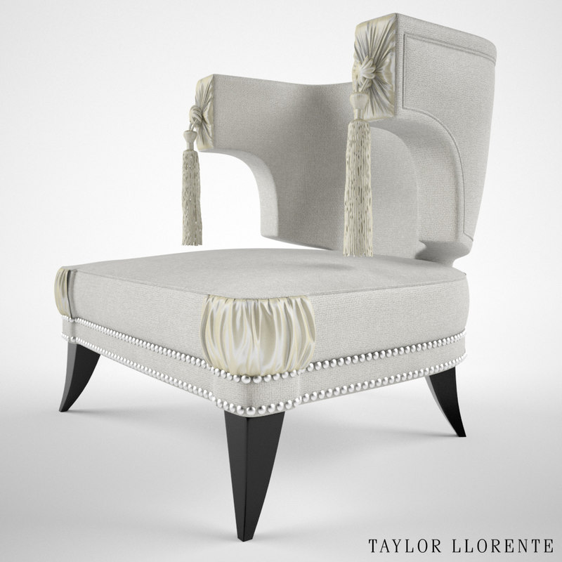 Taylor Llorente Stylised Neoclassical High Back armchair