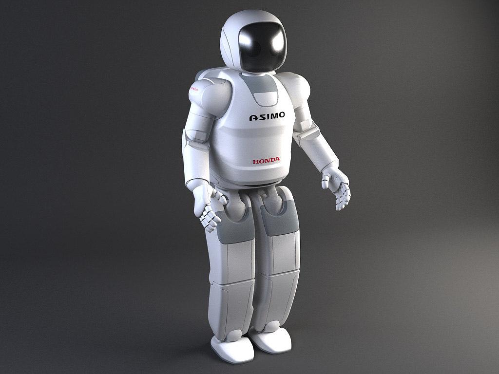 Honda Asimo Robot Rigged