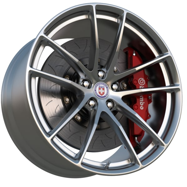 HRE Wheel P1 series P104 3D Models