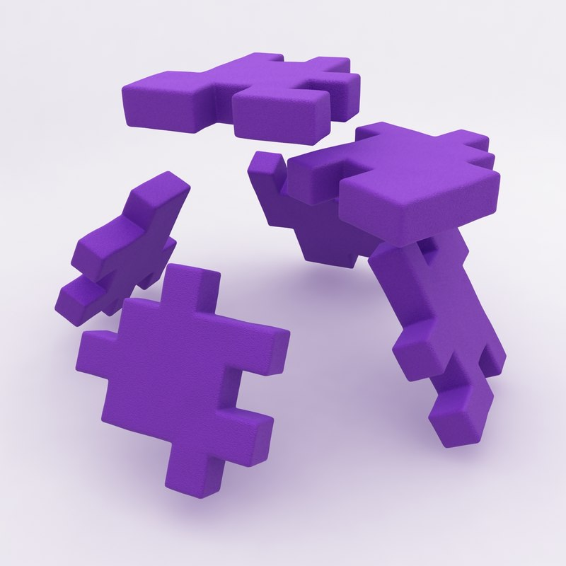 happy cube purple animation 3d max