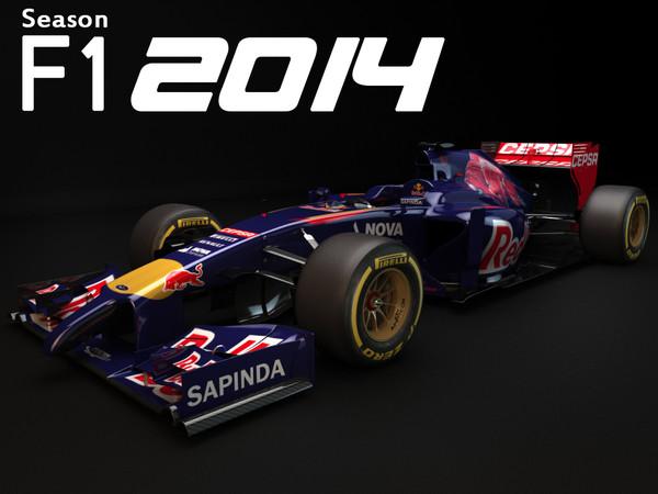Toro Rosso STR9 2014 3D Models