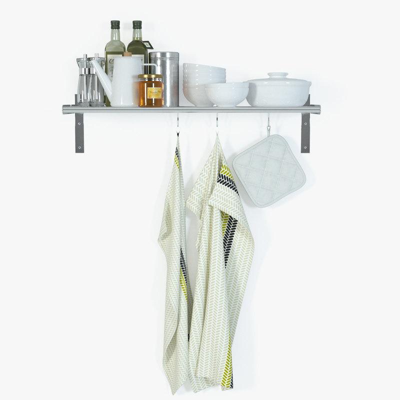 Ikea Unterschrank Herd Metod ~ mikael grundtal wall shelf 3d model