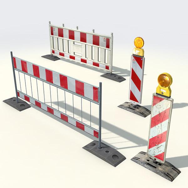 Street Barriers 3D Models