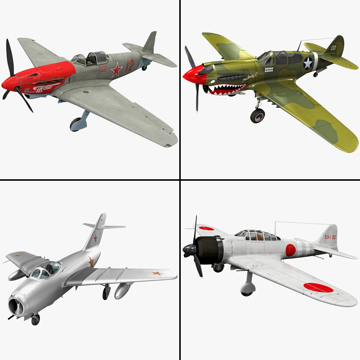 Rigged Fighter Plane Collection