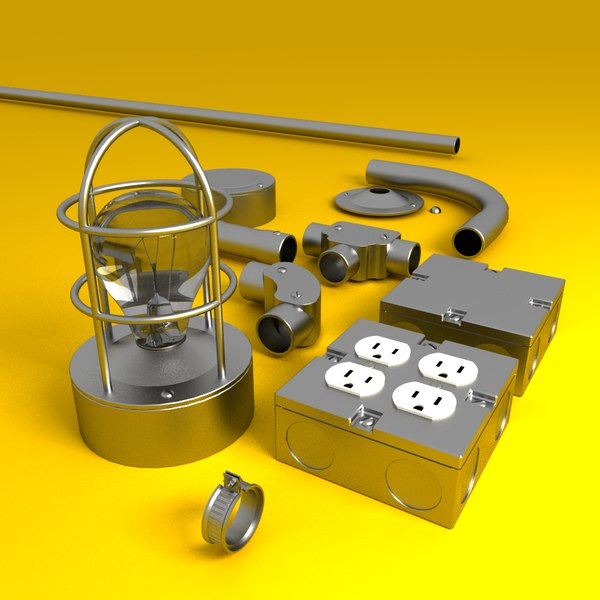 Electrical Conduit + Components 3D Models
