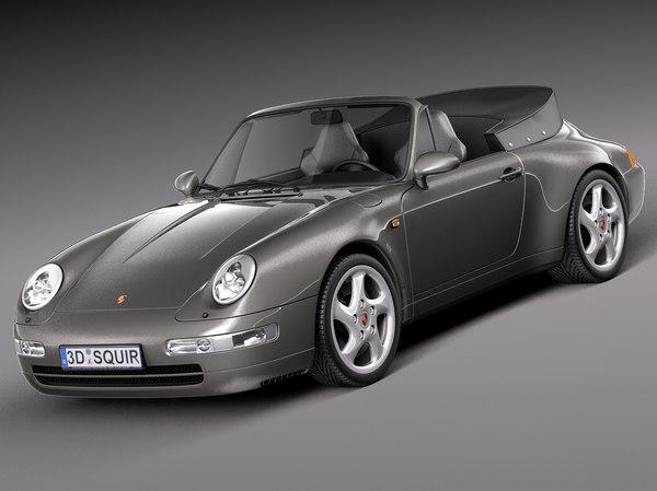 Porsche 911 993 Carrera Cabrio 1994-1997 3D Models