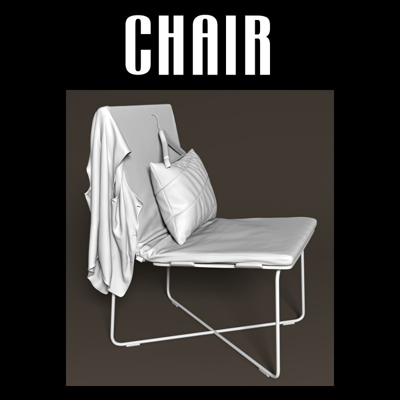 Chair with pillow and vest