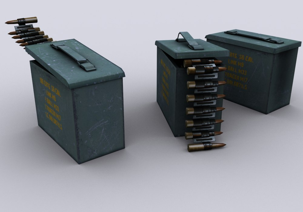 ammunition box 3d model