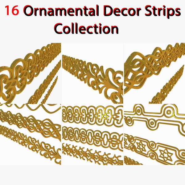 3D Symbols Strip Ornaments Collection stripe plate layer Texture Maps