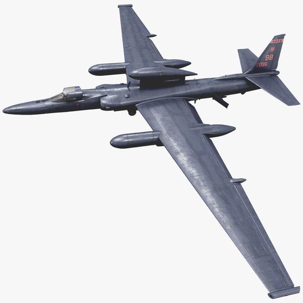Reconnaissance Aircraft Lockheed U-2 Dragon Lady 3D Models