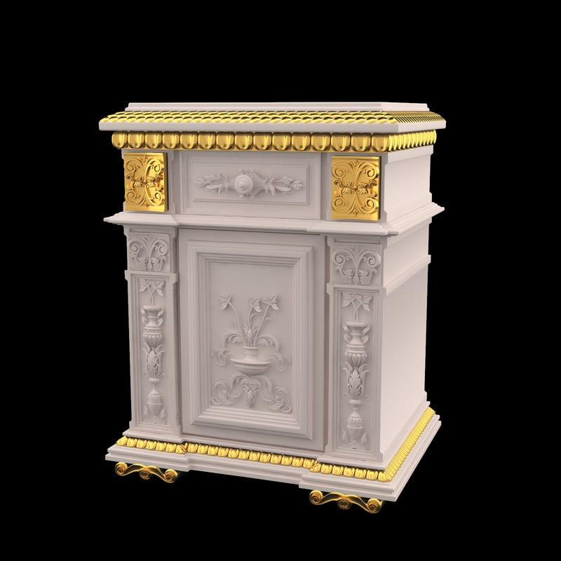 Classical antiquarian bedside table style  Renaissance