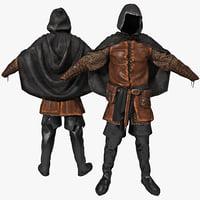 knee high boots 3D models