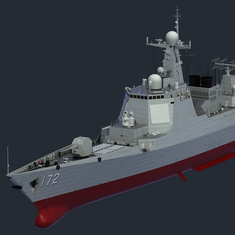 Chinese Navy Type 052D Destroyer KunMing