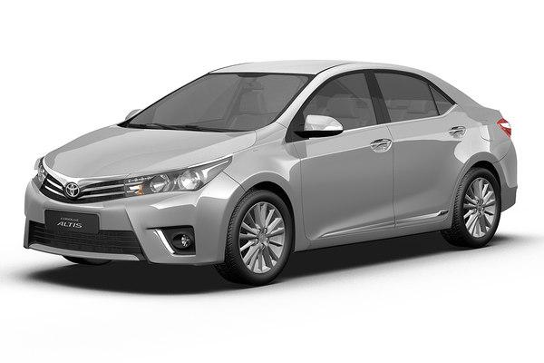 2014 Toyota Corolla Altis 3D Models