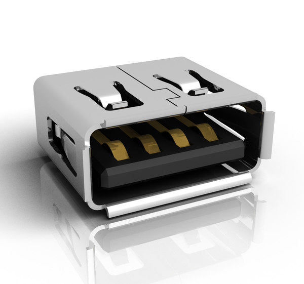 USB Female Connector 3D Models