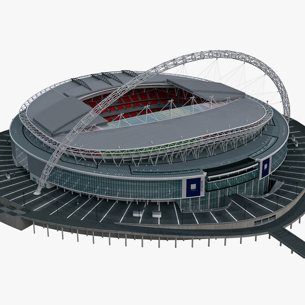 Low Poly Soccer Stadium ( Wembley ) 3D Models