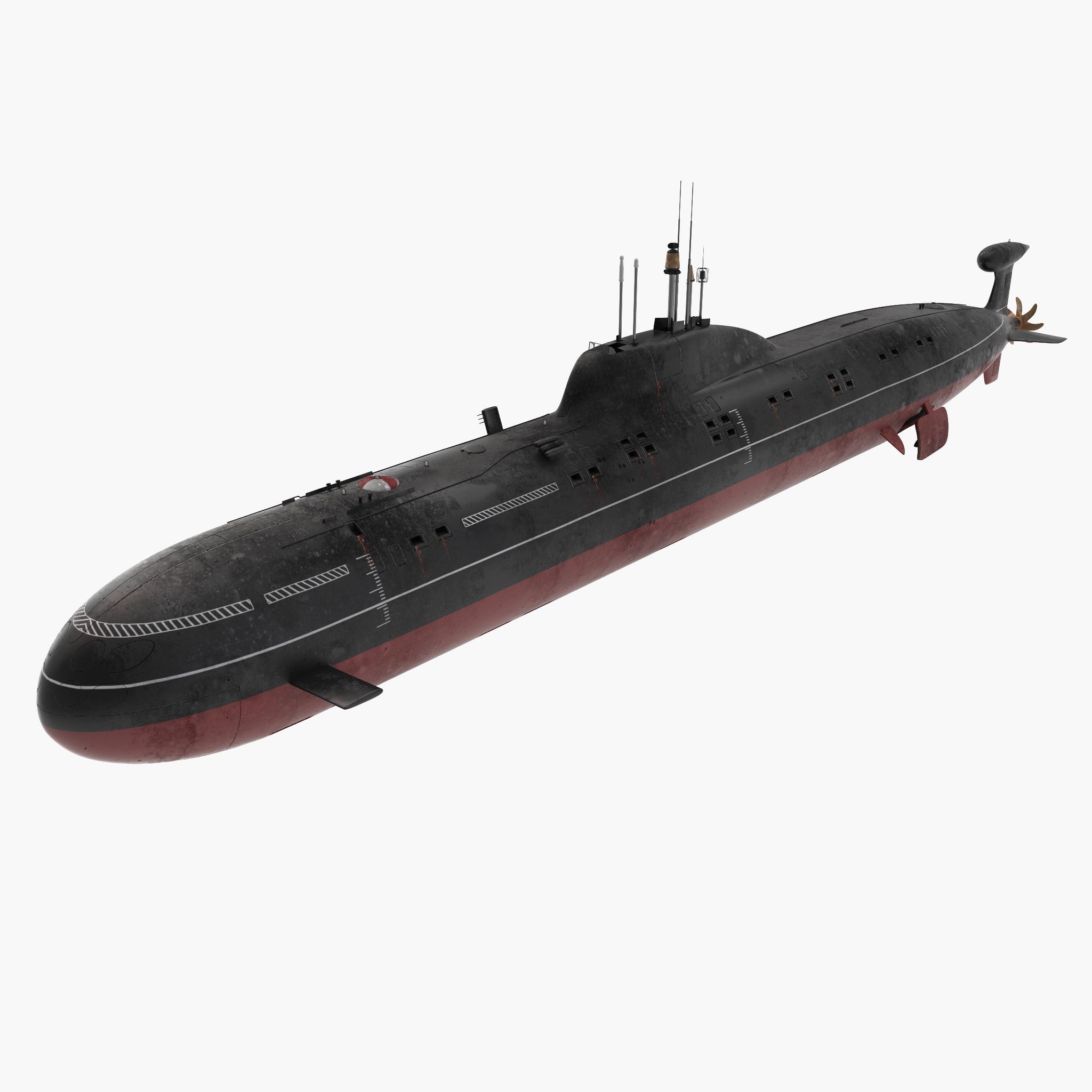 Akula Class Akula Class Submarine 3d Model